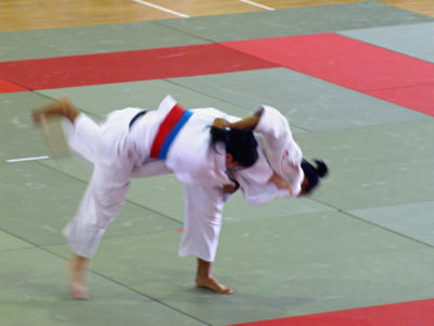Natasha - dispatching her opponent with an inner thigh throw